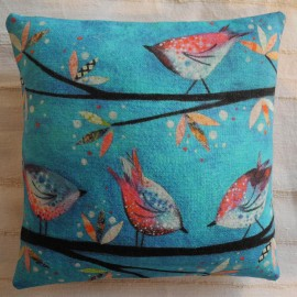 'Birds on blue' - Nikki Monaghan artist Edinburgh