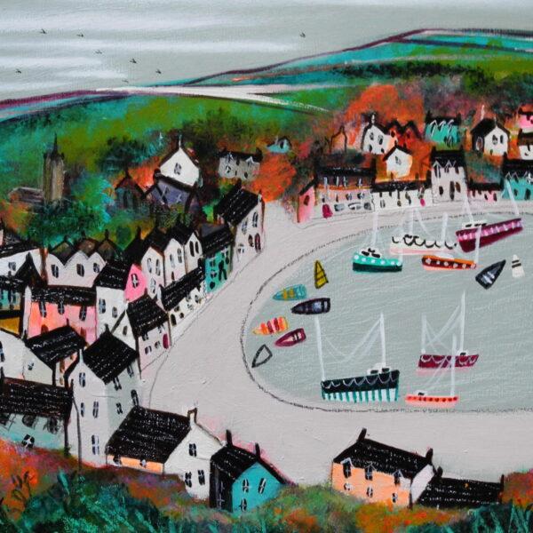 Tarbert...artwork 30cm x20cm, frame 42cm x32cm, £350