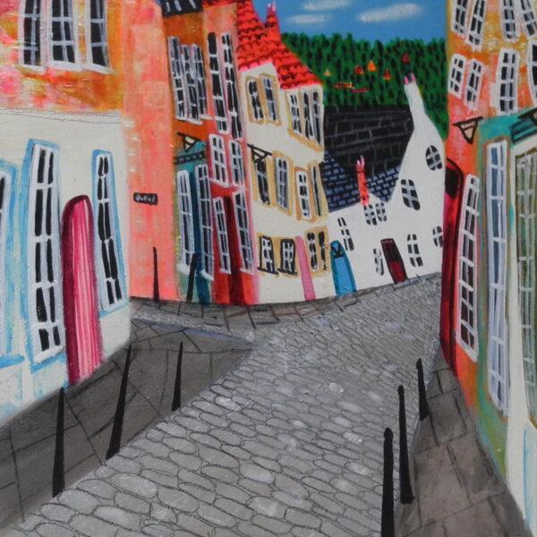 'A VIEW OVER BERWICK TOWN' ART 30CM X20CM, FRAME 43CMX33CM, £380