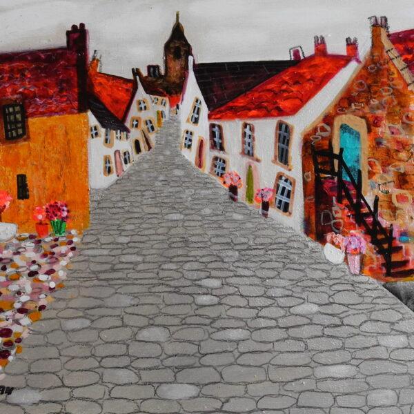 A cobbled street in Culross'